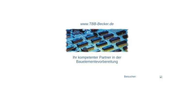 www.tbb-becker.de Vorschau, TBB-Becker, Inh. Joachim Becker