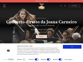 Screenshot del sito teatrolafenice.it