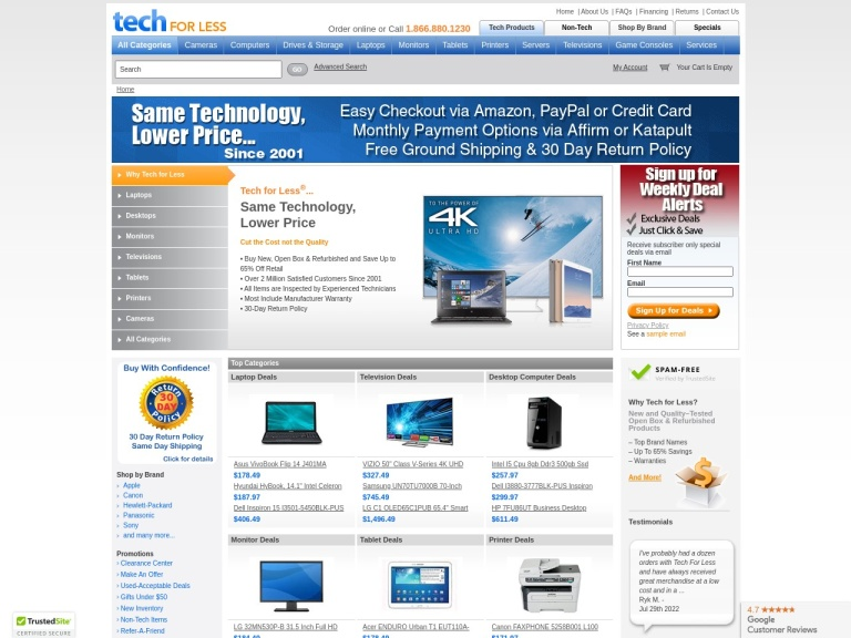 Tech For Less Coupon Codes & Promo codes