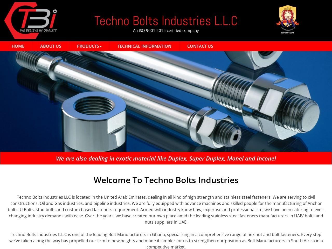 Hex Bolt Manufacturer and Supplier in UAE
