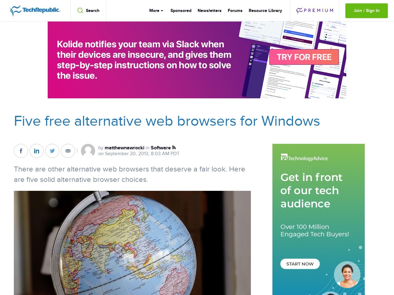Five free alternative web browsers for Windows