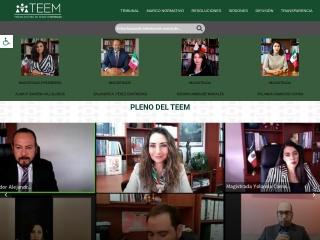 Captura de pantalla para teemich.org.mx