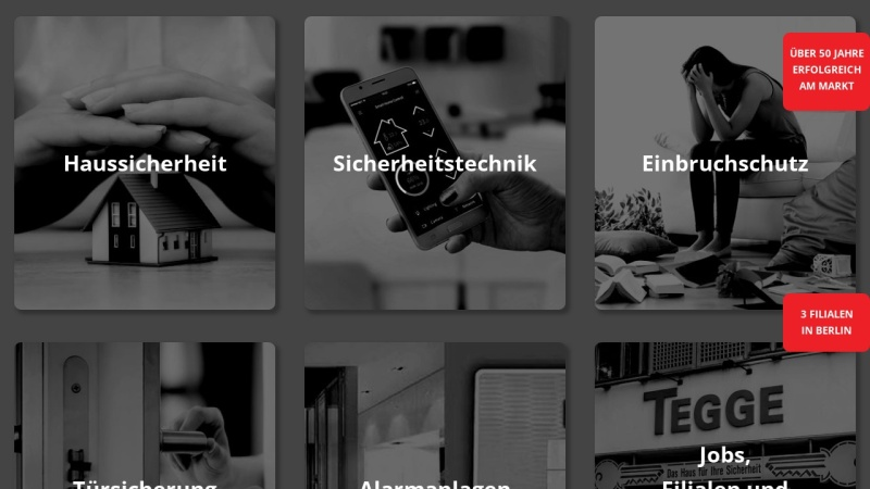 www.tegge.com Vorschau, Berliner Schlüsseldienst K.R. GmbH