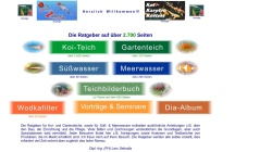 www.teichratgeber.de Vorschau, Der Ratgeber für den Gartenteich