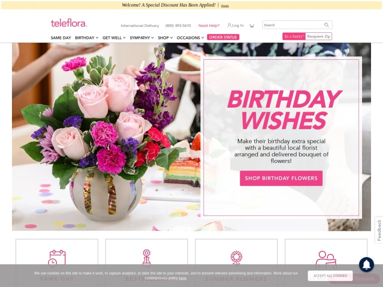 Teleflora screenshot
