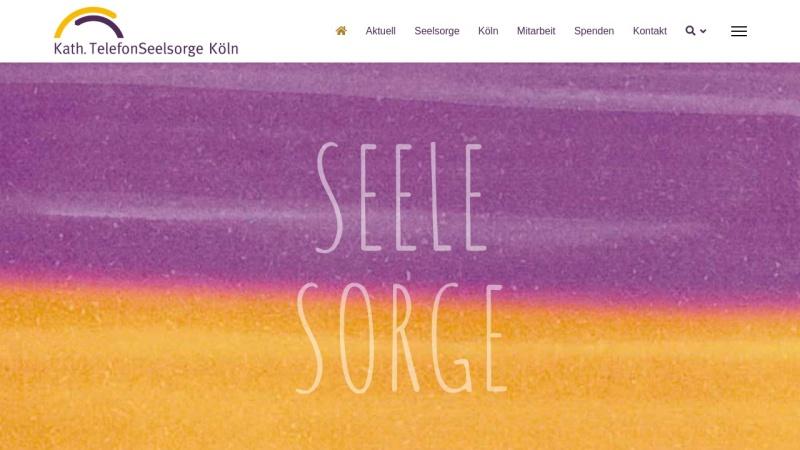 www.telefonseelsorge-koeln.de Vorschau, Katholische Telefonseelsorge Köln