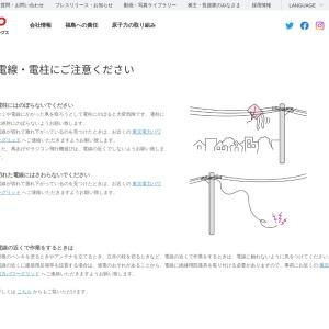 電線・電柱にご注意ください 東京電力ホールディングス株式会社