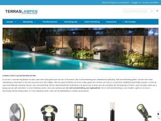 Screenshot voor terraslampen.nl