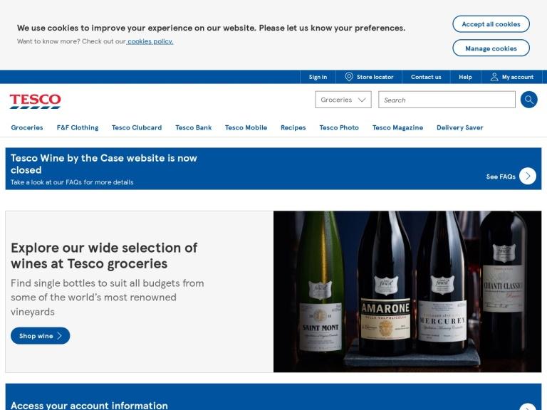 Tesco Wine screenshot