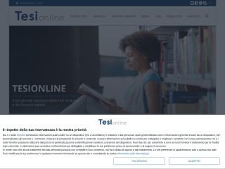 Screenshot del sito tesionline.it