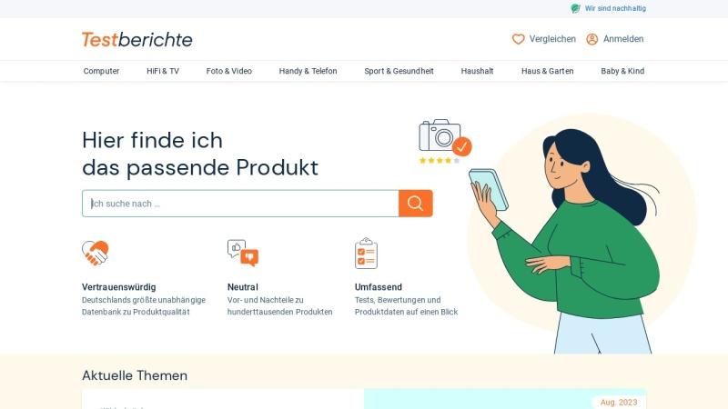 www.testberichte.de Vorschau, Testberichte.de