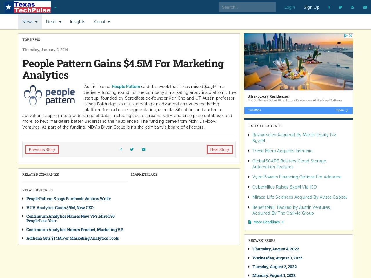 People Pattern Gains $4.5M For Marketing Analytics …