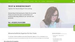 www.textundwissenschaft.de Vorschau, TEXT & WISSENSCHAFT