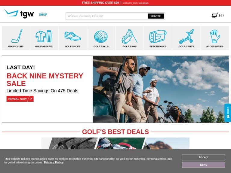 The Golf Warehouse screenshot