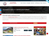 Amarnath Health Certificate Format   Health Certificate for Amarnath