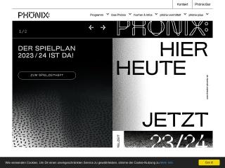 Screenshot der Website theater-phoenix.at