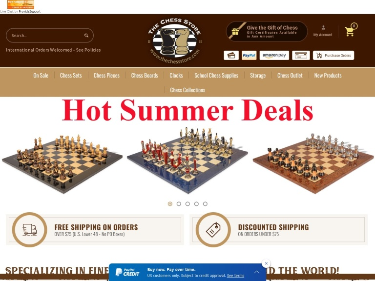 The Chess Store, Inc. Coupon Codes