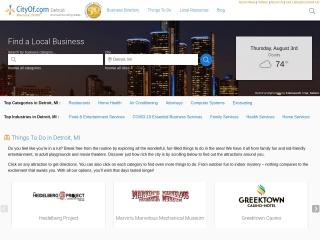 Screenshot for thecityofdetroit.com