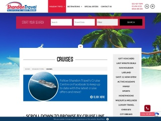 Screenshot for thecruisecentre.ie