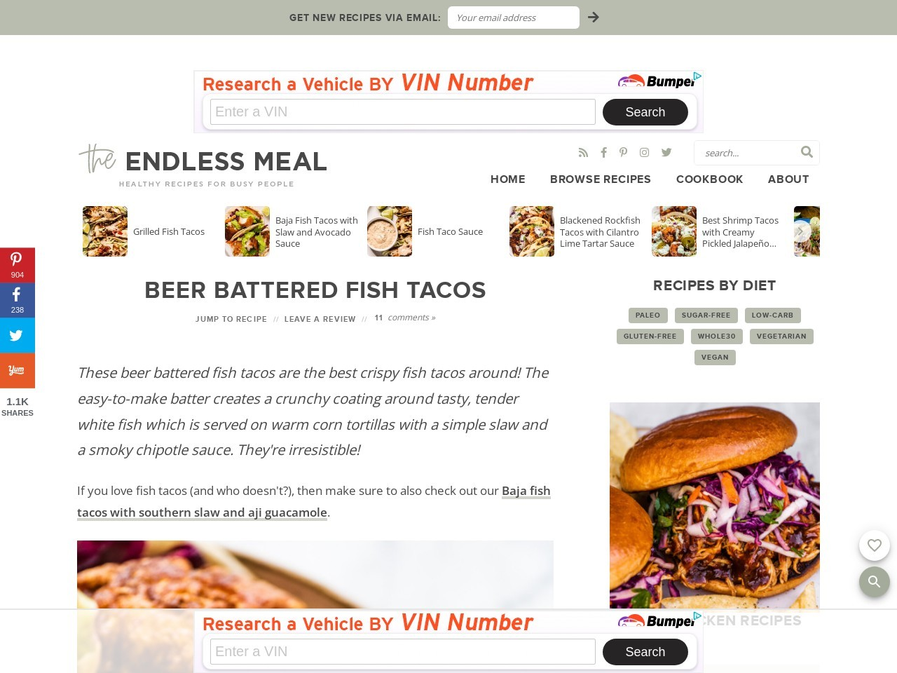 Beer Battered Fish Tacos – The Endless Meal