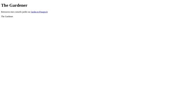 Vorschau von www.thegardener.ch, Thegardener.ch