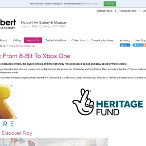 Rare: From 8-bit to Xbox One - The Herbert Art Gallery & Museum
