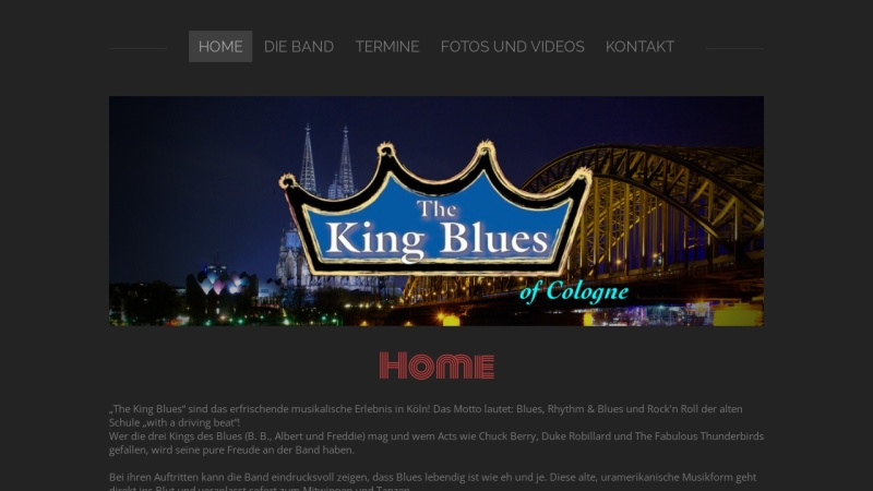 www.thekingblues.de Vorschau, The King Blues