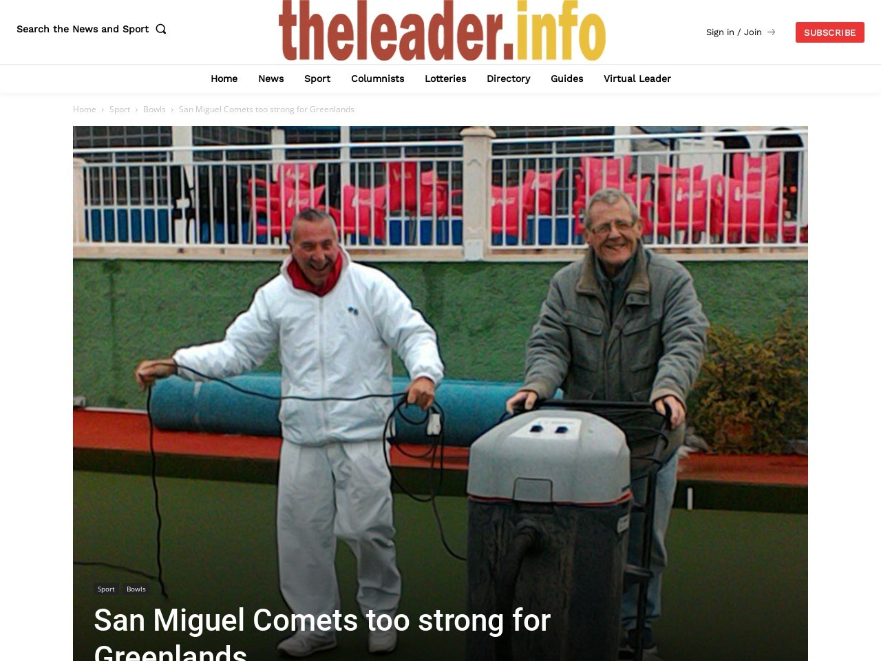 San Miguel Comets too strong for Greenlands