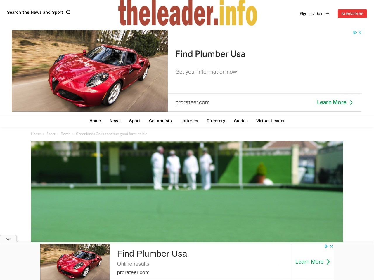 Greenlands Oaks continue good form at Isle