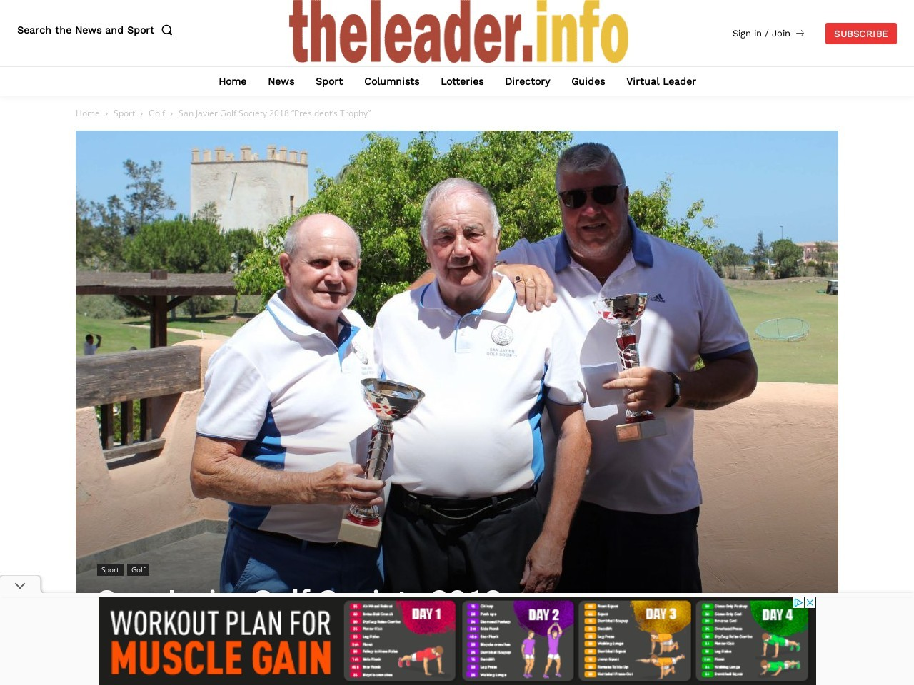 "San Javier Golf Society 2018 ""President's Trophy"""