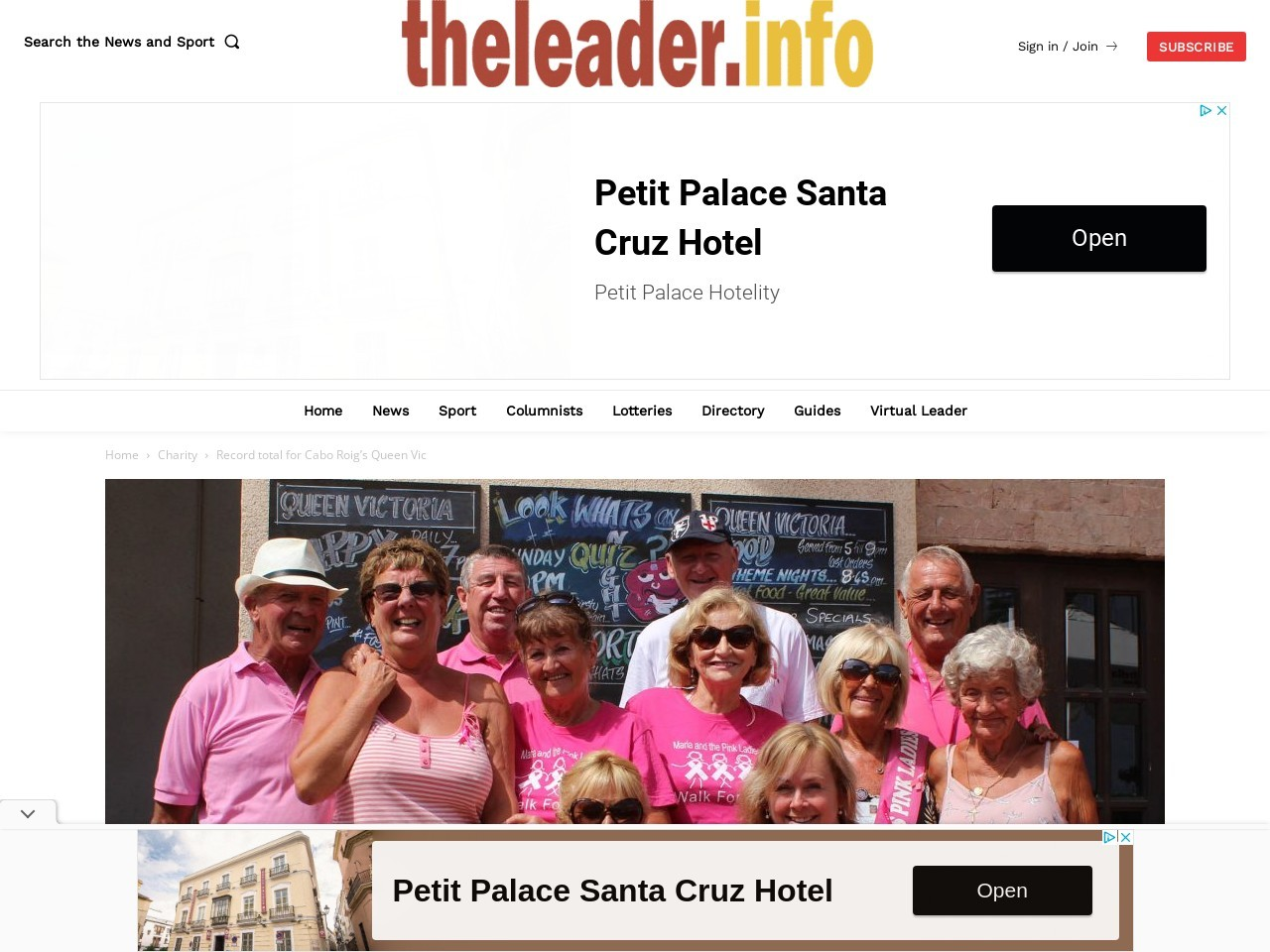 Record total for Cabo Roig's Queen Vic