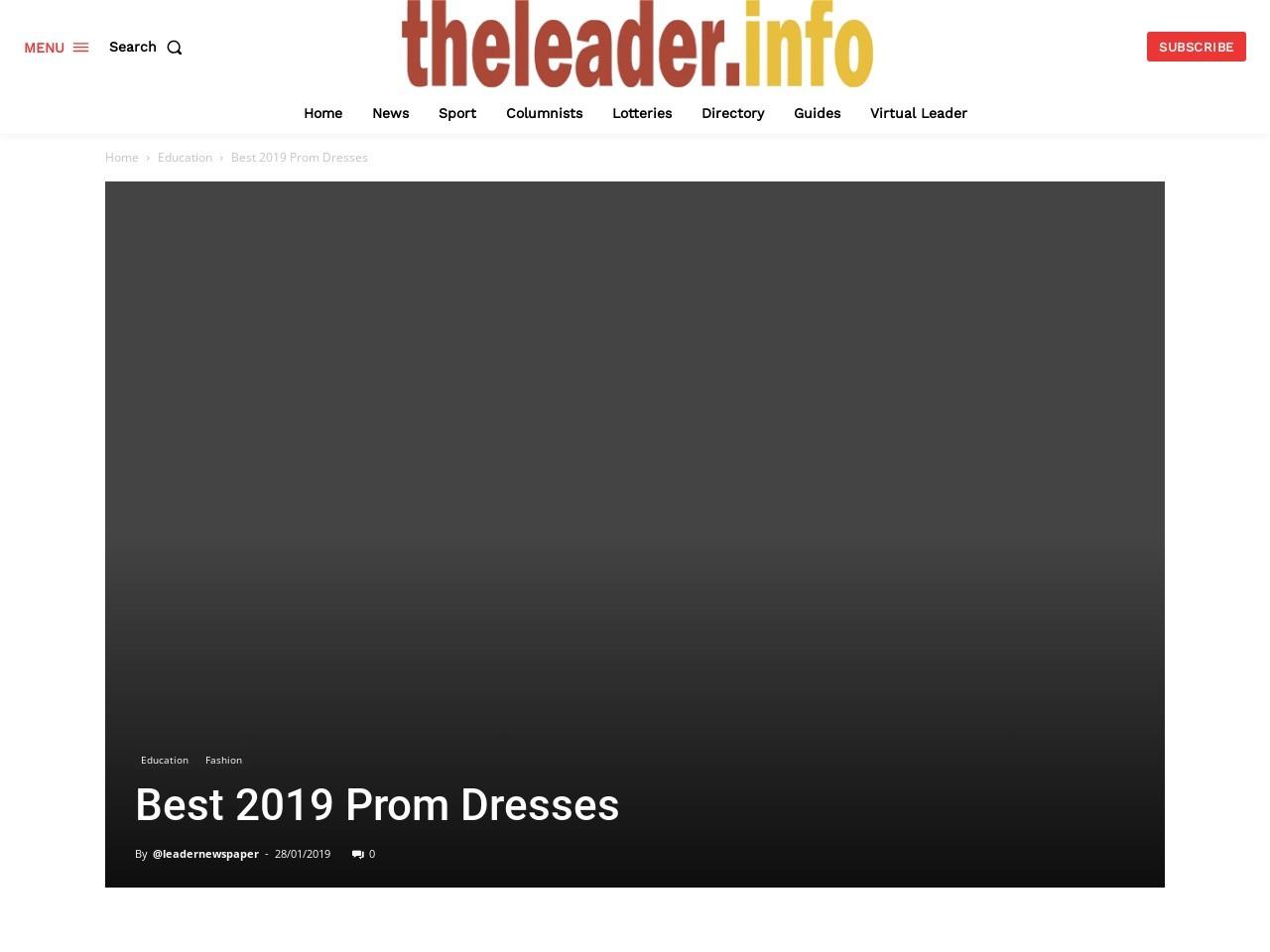 Best 2019 Prom Dresses
