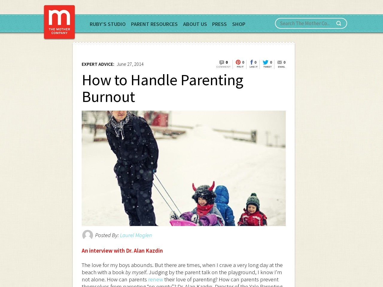 How to Handle Parenting Burnout « TheMotherCompany