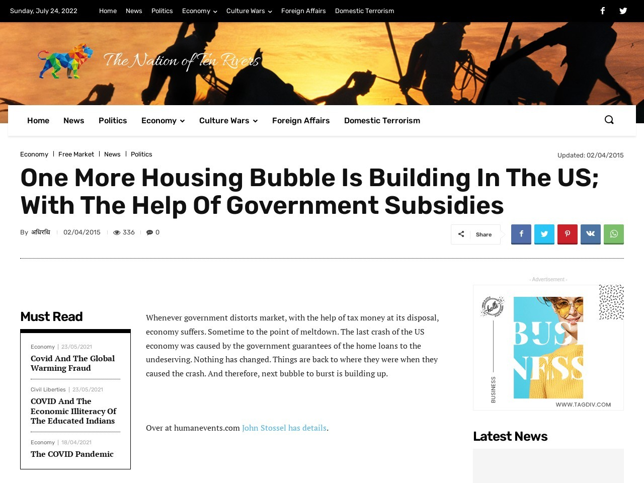 One More Housing Bubble Is Building In The US; With The …
