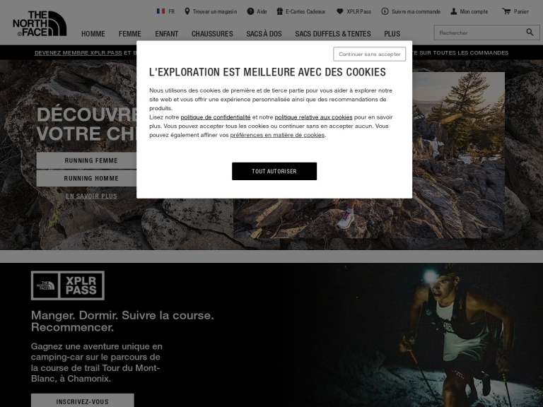 The North Face - France screenshot