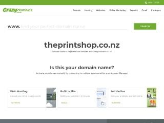 Screenshot for theprintshop.co.nz