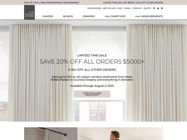 The Shade Store screenshot