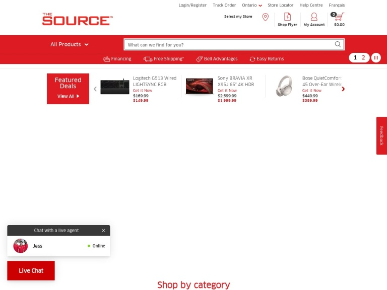 TheSource.ca screenshot