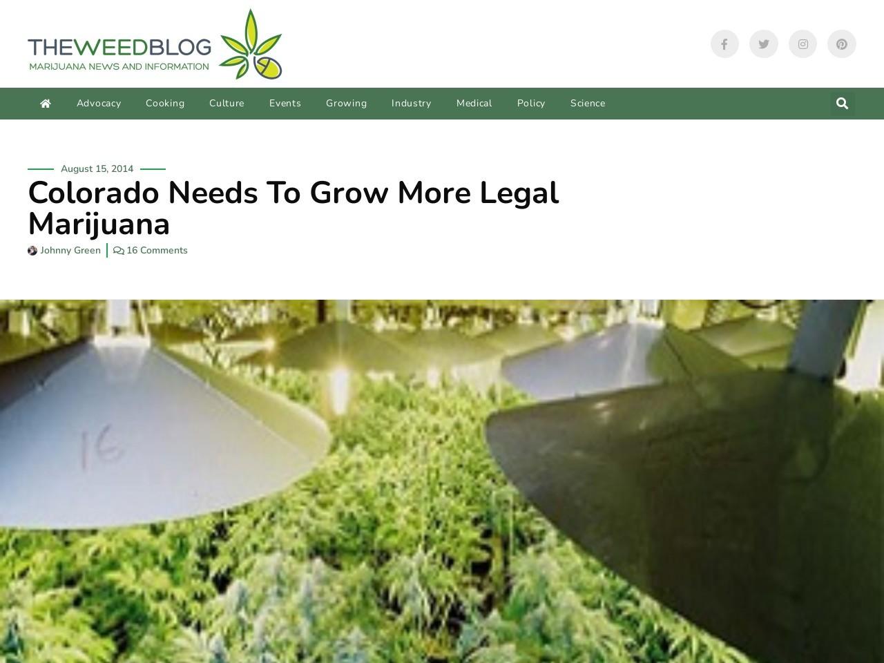 Colorado Needs To Grow More Legal Marijuana | The Weed …
