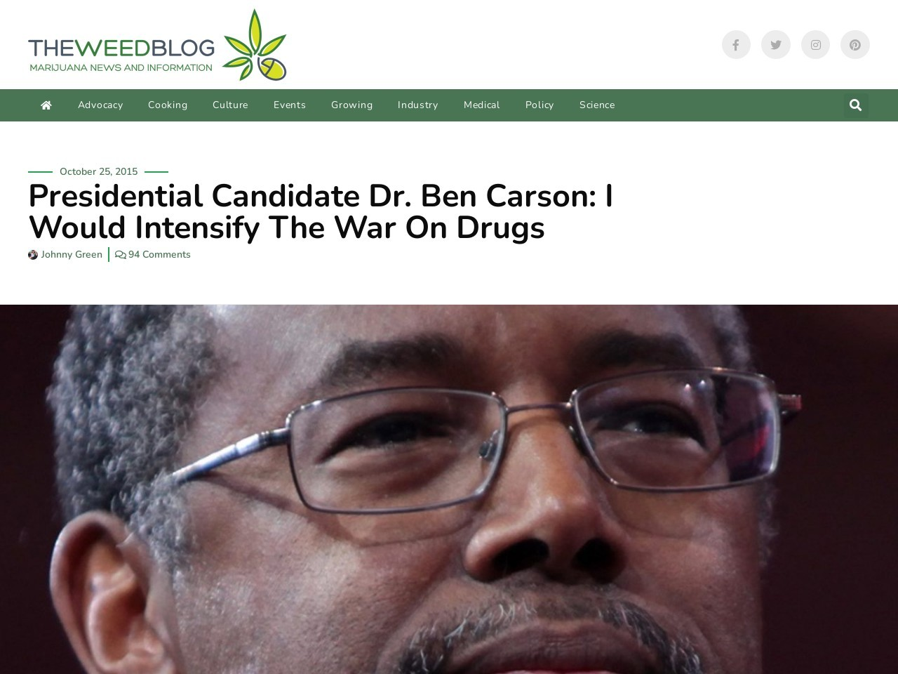 Presidential Candidate Dr. Ben Carson: I Would Intensify …