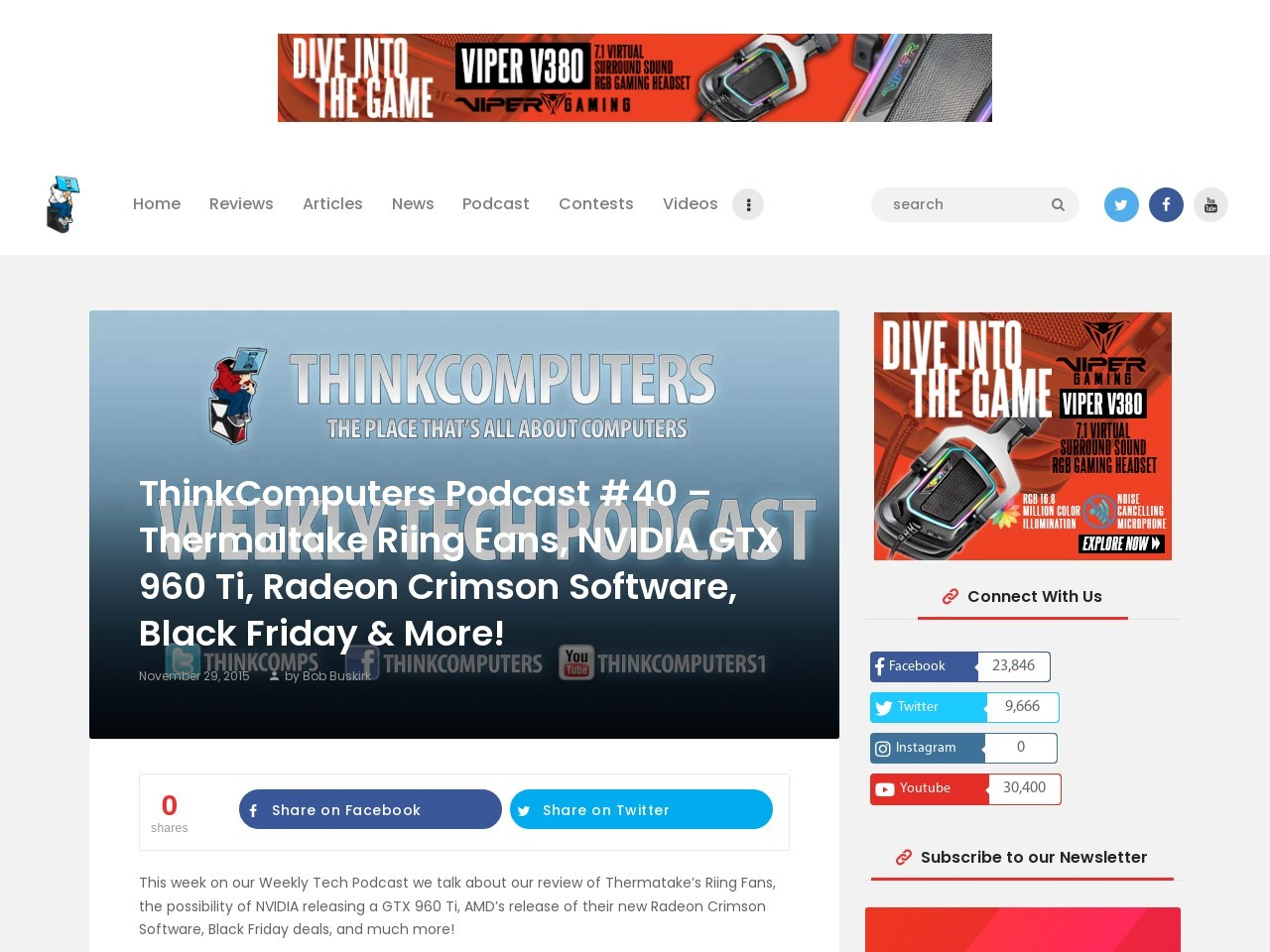 ThinkComputers Podcast #40 – Thermaltake Riing Fans …