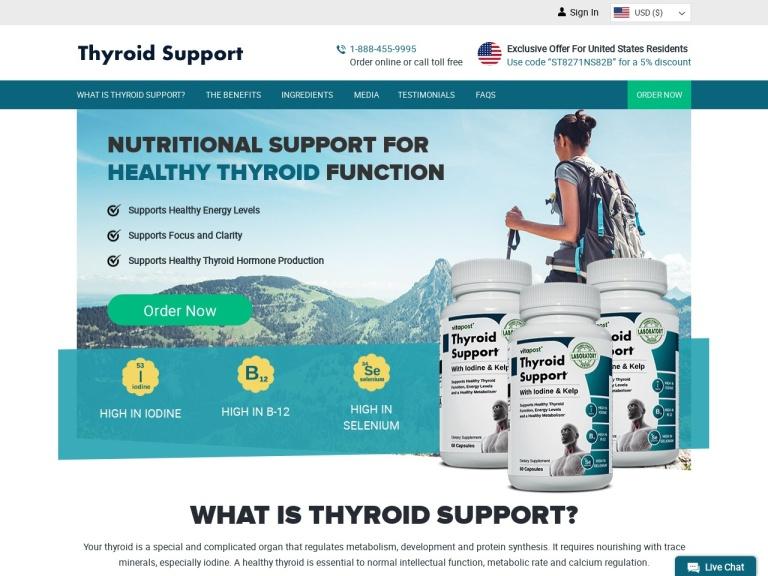 Thyroid Support screenshot