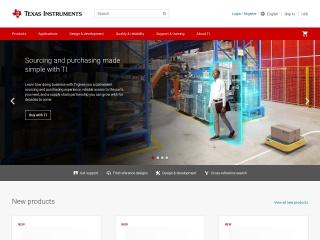 Screenshot for ti.com