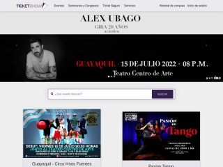 Captura de pantalla para ticketshow.com.ec