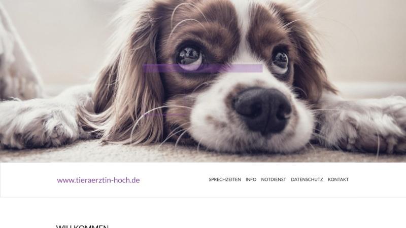 www.tieraerztin-hoch.de Vorschau, Dipl. med. vet. Heike Hoch