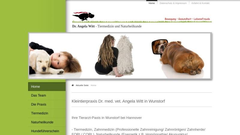 www.tierdoc-witt.de Vorschau, Kleintierpraxis Dr. Angela Witt