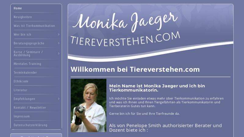 www.tiereverstehen.com Vorschau, Monika Jaeger
