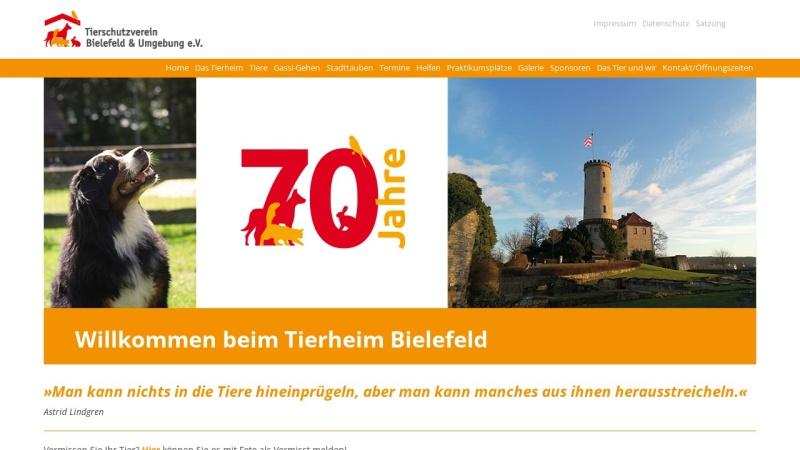 www.tierheim-bielefeld.de Vorschau, Tierschutzverein Bielefeld e.V.