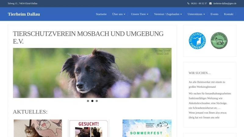 www.tierheim-dallau.de Vorschau, Tierheim Dallau