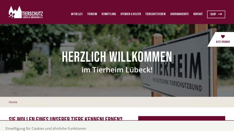 www.tierheim-luebeck.de Vorschau, Tierschutz Lübeck und Umgebung e.V.